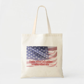 A nation without God is a nation without order Canvas Bags