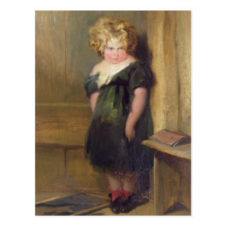 A Naughty Child (oil on canvas) Postcard