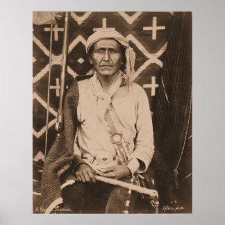 A Navajo Shaman - 1879 Poster