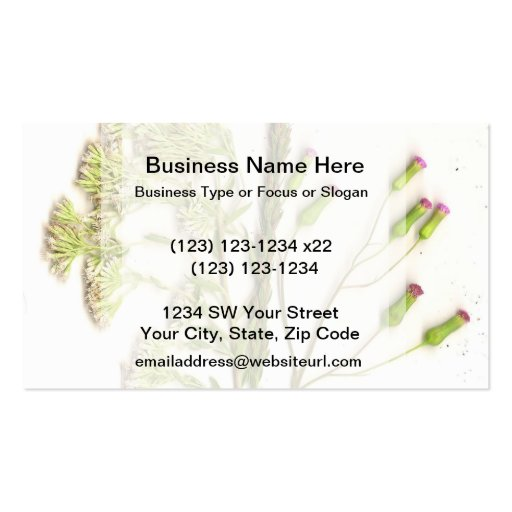 A neat scanned image of flowers business card templates