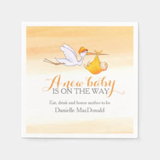 A new baby is on the way stork art napkins disposable serviettes