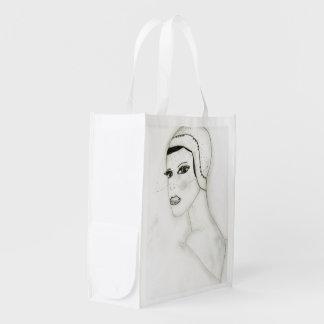 A New Flapper Girl Reusable Grocery Bag