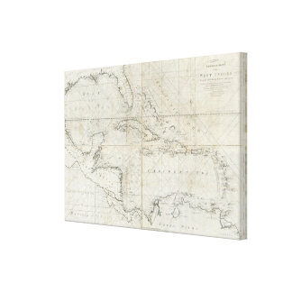A new general chart of the West Indies Canvas Prints