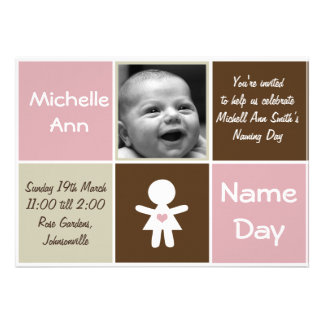 a new heart name day girl invitation