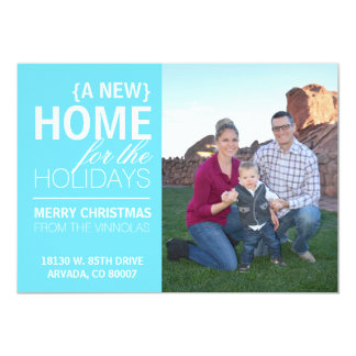 A new home for the holidays card