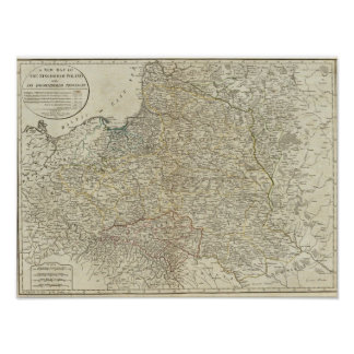 A new map of the Kingdom of Poland Poster
