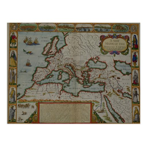 A New Map of the Roman Empire Post Card