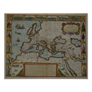 A New Map of the Roman Empire Print