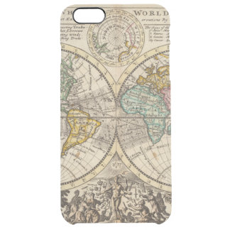 A new map of the whole world with trade winds clear iPhone 6 plus case