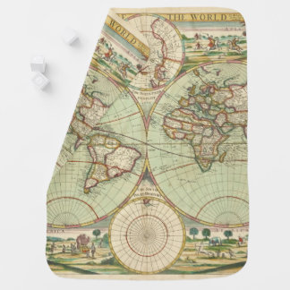 A new mapp of the world - Atlas Baby Blanket