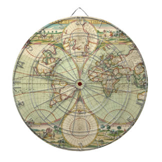 A new mapp of the world - Atlas Dartboard