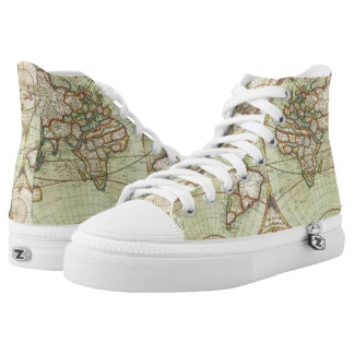 A new mapp of the world - Atlas High Tops