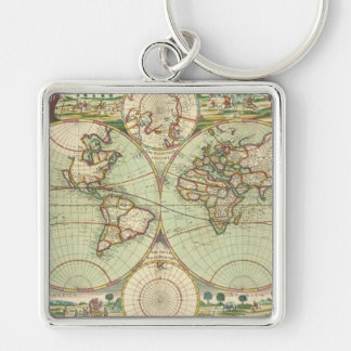 A new mapp of the world - Atlas Key Ring