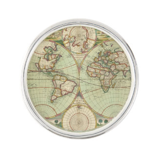 A new mapp of the world - Atlas Lapel Pin