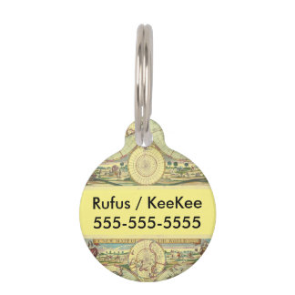A new mapp of the world - Atlas Pet Name Tag