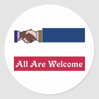 A New Mississippi: All Are Welcome Round Sticker