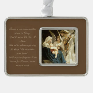 A New Name In Glory Silver Plated Framed Ornament
