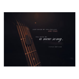 A New Song Postcard