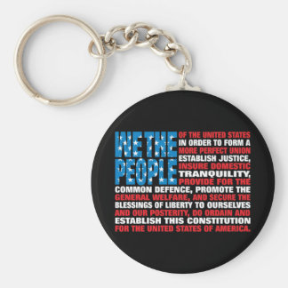 A New Twist on Old Glory Basic Round Button Key Ring