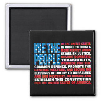 A New Twist on Old Glory Square Magnet