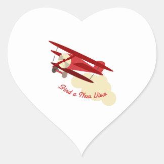A New View Heart Sticker