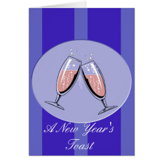 A New Year's Toast Card