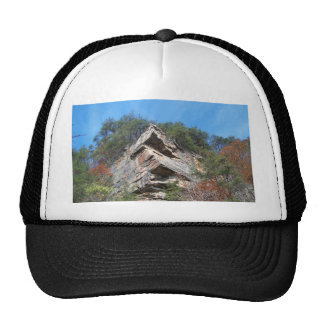 A Nice Rustic Cliff and Trees Mesh Hats