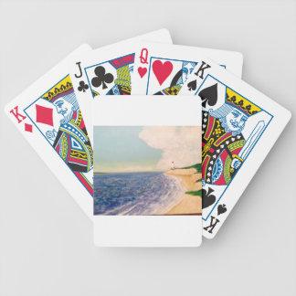 A  Nice Sandy Beach Poker Deck
