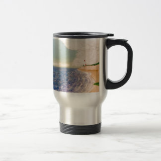 A  Nice Sandy Beach Travel Mug