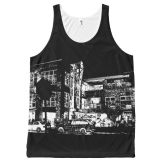 A Night for Cafe and Billiards All-Over Print Singlet