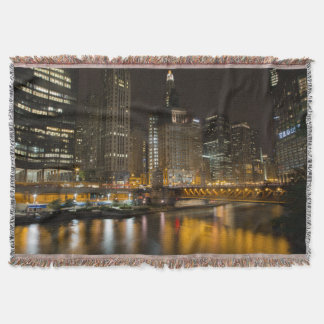 A Night in Chicago Throw Blanket