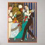 A Night in Decadent Paris Art Deco Poster