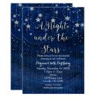 A Night under the Stars Silver & Blue Invitation