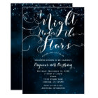 A NIGHT UNDER THE STARS Starry Blue Skies Card