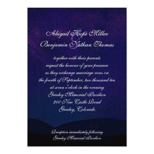 A Night Under the Stars Wedding Invitation