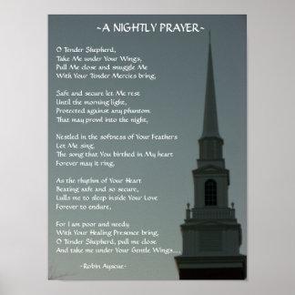 A NIGHTLY PRAYER POSTER