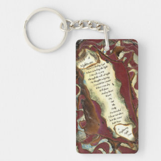 A Nightmare Double-Sided Rectangular Acrylic Key Ring