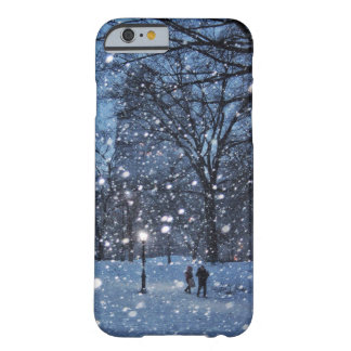 A Nighttime Walk Through Winter Snow Barely There iPhone 6 Case