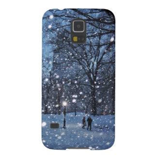 A Nighttime Walk Through Winter Snow Galaxy S5 Cases