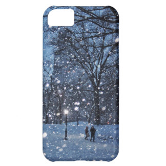 A Nighttime Walk Through Winter Snow iPhone 5C Case