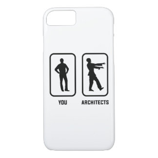 A Normal You Versus an Architect Zombie iPhone 8/7 Case