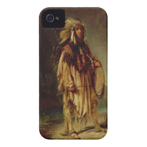 A North American Indian in an Extensive Landscape, iPhone 4 Cover