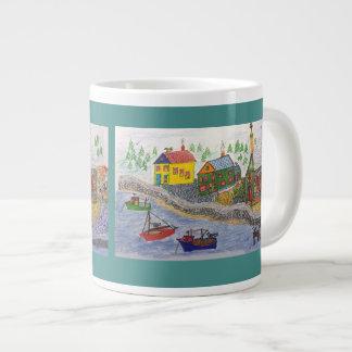 A Northern Fishing Village Large Coffee Mug