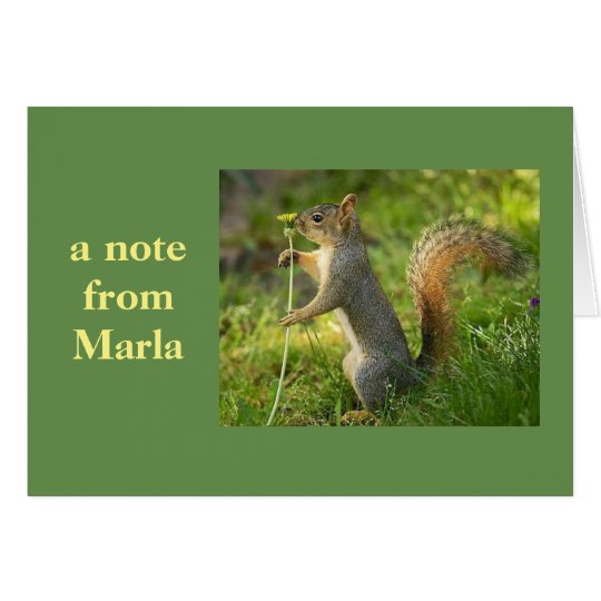 A note from Marla! Card