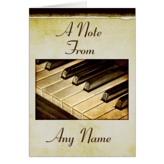 A Note From... Piano Keys Note Cards