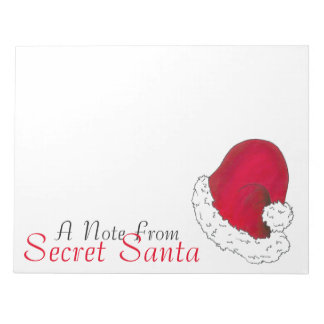 A Note From Secret Santa Claus Merry Christmas Red