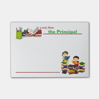 A Note from the Principal Post-it Notes