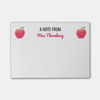 A Note From the Teacher Red Apples Cute Post-it® Notes