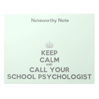 A Noteworthy Note from the School Psychologist
