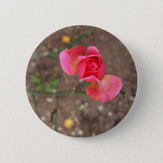 A November rosebud 6 Cm Round Badge